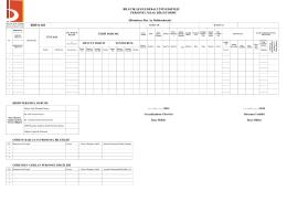 Personel Maaş Bilgi Formu - Bilecik Şeyh Edebali Üniversitesi