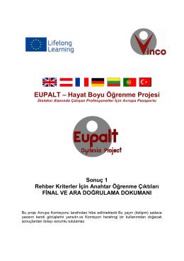 EUPALT – Hayat Boyu Öğrenme Projesi