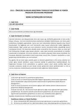 BİT- Mobil İletişim. 1511-BİT-2014-Mİ-06