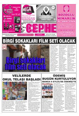 03.09.2014 Tarihli Cephe Gazetesi