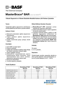 MasterBrace® BAR (Eski Adı MBAR®) Yüksek Dayanımlı