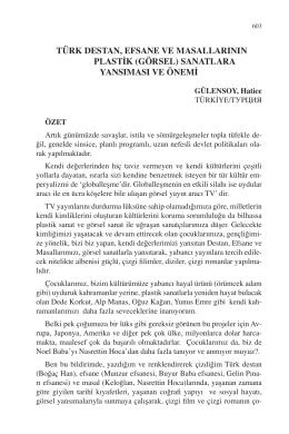 GÜLENSOY, Hatice-TÜRK DESTAN, EFSANE VE