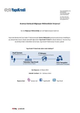 Yapı Kredi IT Bölümü - Yeni Mezun İşe Alım Projesi