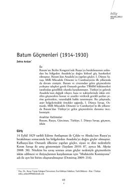 Batum Göçmenleri (1914
