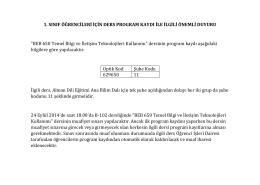 BEB 650 Temel Bilgi ve İletişim Tekno