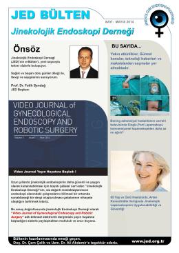 JED Bülten Ocak 2014 - Jinekolojik Endoskopi Dernegi