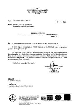 t 6 En 2014 - mersin - mezitli ilçe millî eğitim müdürlüğü