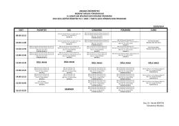2014-2015 eğitim-öğretim yılı güz yarıyılı ders programı