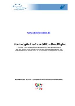 Non-Hodgkin Lenfomu (NHL) – Kısa Bilgiler