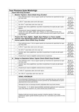 Fiyat Listesi - Konya Büyükşehir Belediyesi