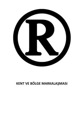 kent ve bölge markalaşması