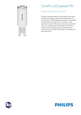 Product Leaflet: 2.5-25 W G9 /827