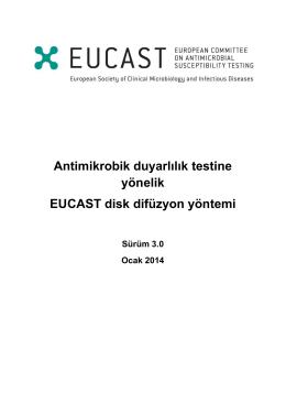 EUCAST Disk Difüzyon Testi El Kitabı