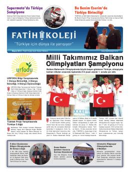 Milli Takımımız Balkan - Fatih Koleji Grafik Tasarım Grubu