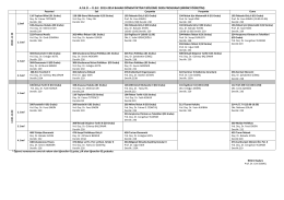 i.i.bf 2013-2014 bahar dönemi iktisat bölümü ders programı