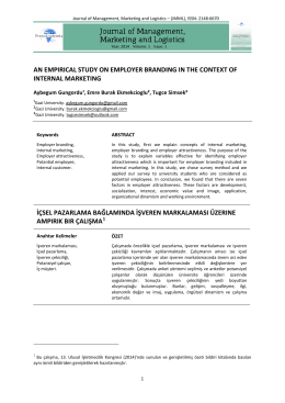 an empırıcal study on employer brandıng ın the context