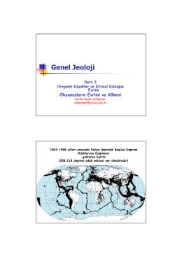 Genel Jeoloji-Ders 3