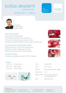 botiss akademi - botiss biyomateryaller