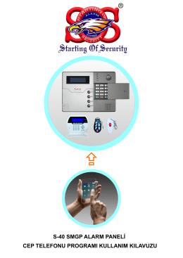 s-40 smgp alarm paneli cep telefonu programı kullanım kılavuzu