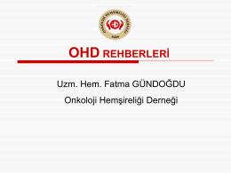 OHD Rehberleri - Onkoloji Hemşireliği Derneği