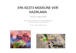 EPA-ISCST3 MODELİNE VERİ HAZIRLAMA