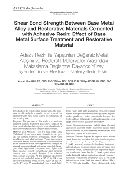 Shear Bond Strength Between Base Metal Alloy and Restorative