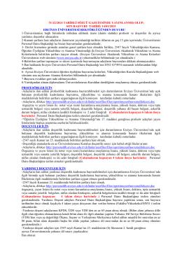 son başvuru tarihi: 14/01/2015 erciyes üniversitesi rektör