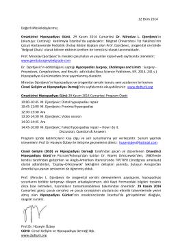 CGHD 2013 - Cinsel Gelişim ve Hipospadiyas