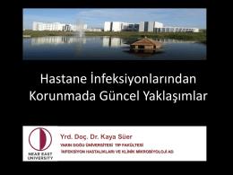 Yrd. Doç. Dr.Kaya Süer - Yakın Doğu Üniversitesi