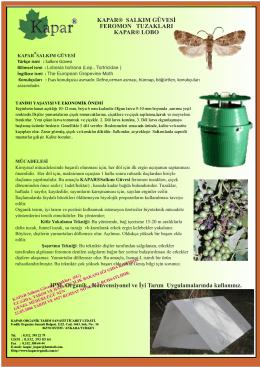 Salkım Güvesi - Kapar Organik Tarım