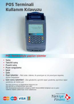 POS Terminali Kullanım Kılavuzu - Türkiye Finans Katılım Bankası