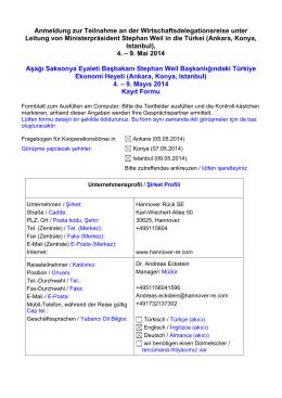 firma profili - Deutsch-Türkische Industrie