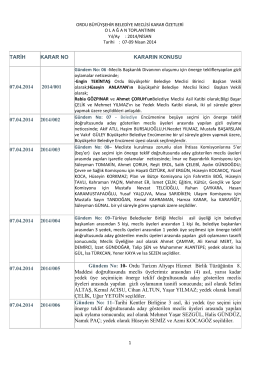 nisan 2014 ayı meclis karar özetleri