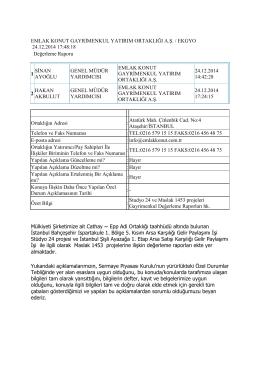 Studyo 24 ve Maslak 1453 projeleri
