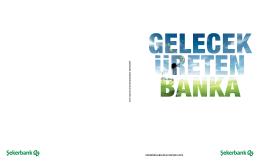 Şekerbank Sürdürülebilirlik Raporu 2013