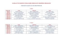 kafkas üniversitesi pedagojik formasyon sertifika programı