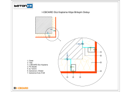 I-CBOARD Düz Kaplama Köşe Birleşim Detayı