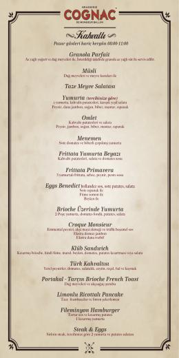 Kahvaltı - Brasserie Cognac
