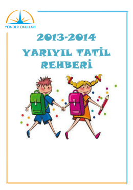 2013-2014 yarıyıl tatil rehberi