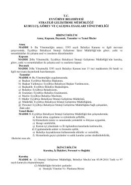 Yönetmelik - Eyyübiye Belediyesi