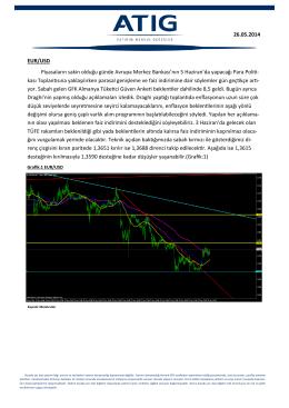 EUR/USD Piyasaların sakin olduğu günde Avrupa Merkez Bankası