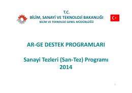 santez - Ulusal ve Uluslararası Araştırma Proje Koordinatörlüğü