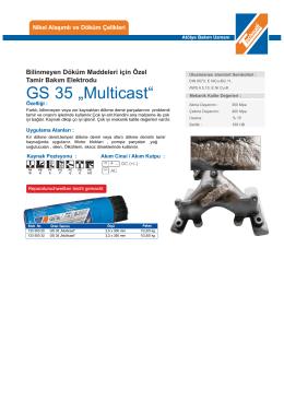 """GS 35 """"Multicast"""" - teknolit.com.tr"""