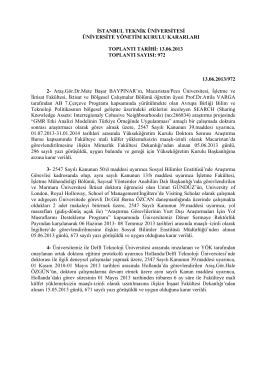972 - İstanbul Teknik Üniversitesi