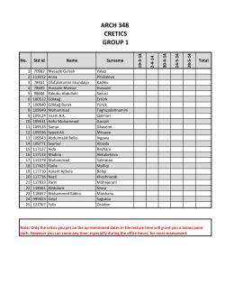 arch 348 cretıcs group 1