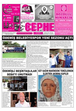 20.08.2014 Tarihli Cephe Gazetesi