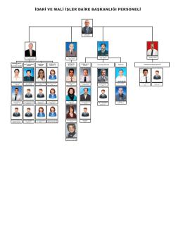 Organizasyon Şeması - idari ve mali işler daire başkanlığı