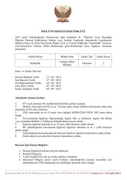 Öğretim Üyesi Dı - İpek Üniversitesi