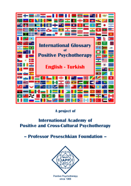 International Glossary Positive Psychotherapy English