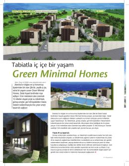 Green Minimal Homes